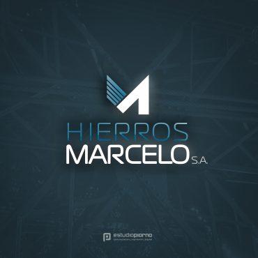 Logotipo Hierros Marcelo
